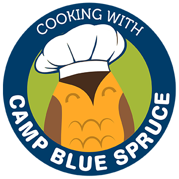 Cooking with Camp Blue Spruce Logo