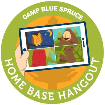 Camp Blue Spruce Home Base Hangout Logo
